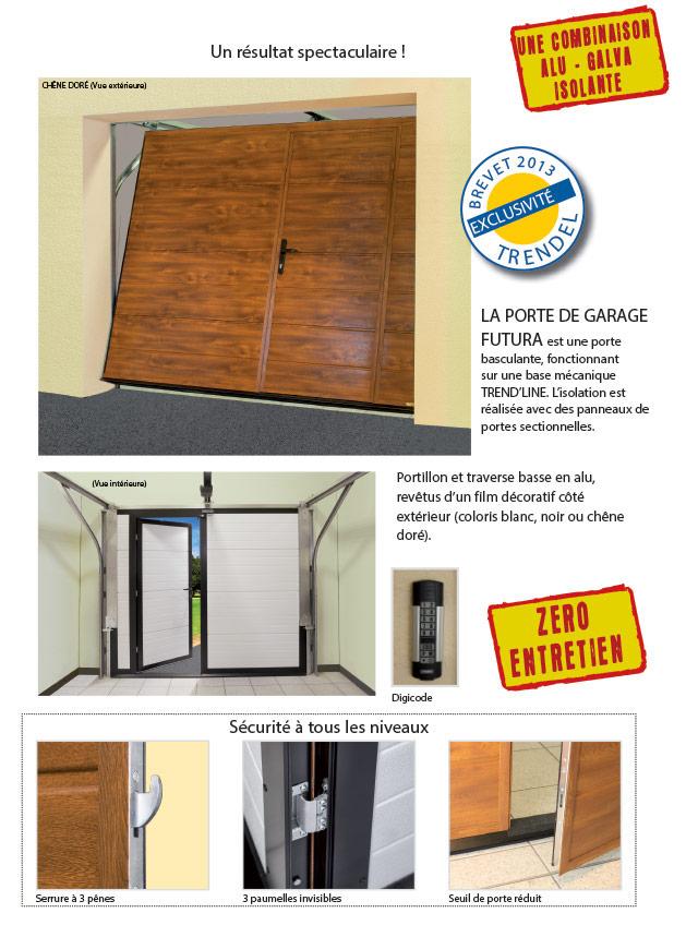 Portes de garage porte trendline futura trendel for Porte fenetre futura laval