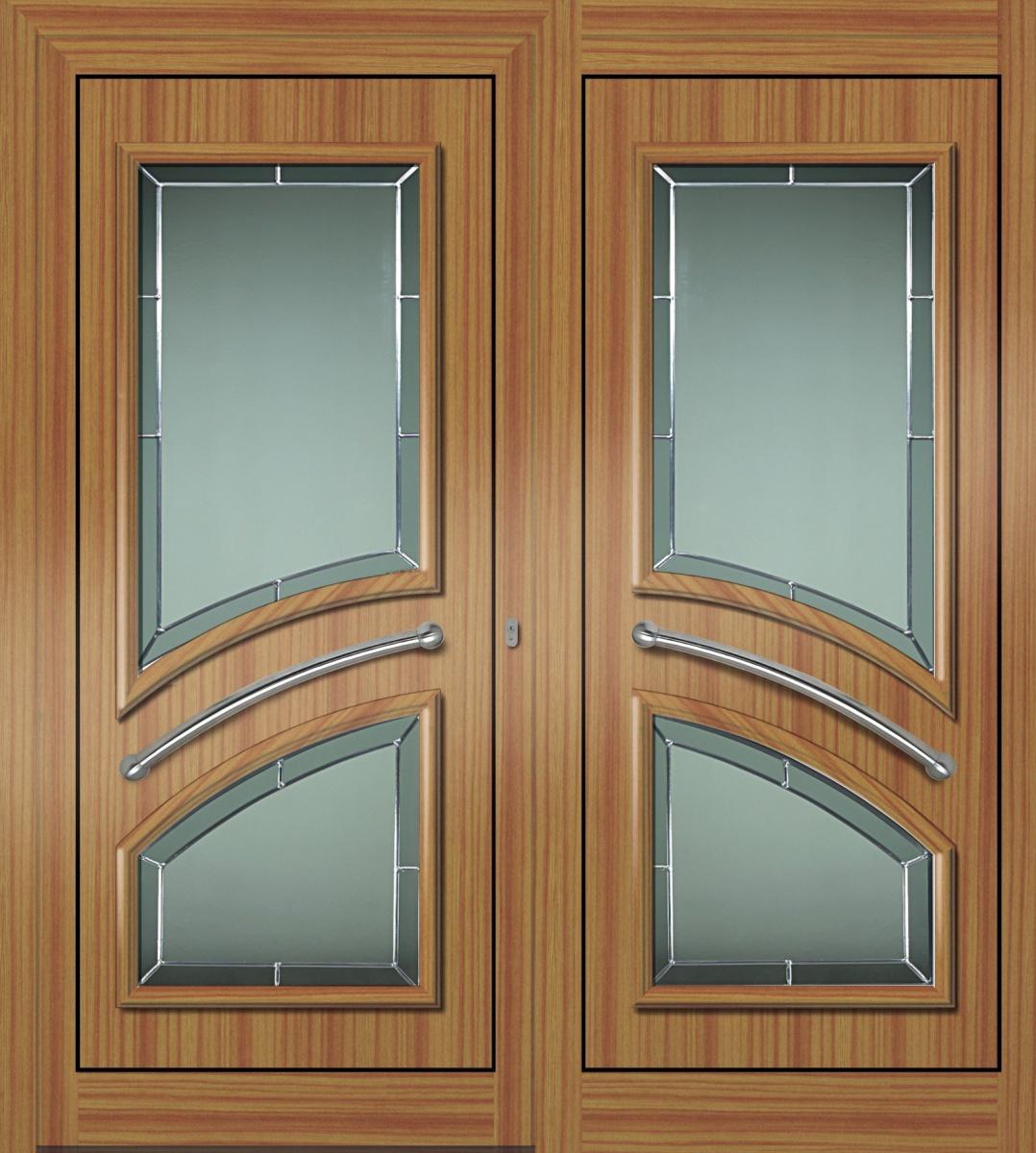Portes d 39 entr e mod les panneaux classiques trendel for Modele de fenetre pvc
