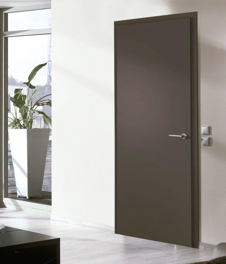 Portes d 39 int rieur portes en bois mod le lisse for Modele porte et fenetre en bois