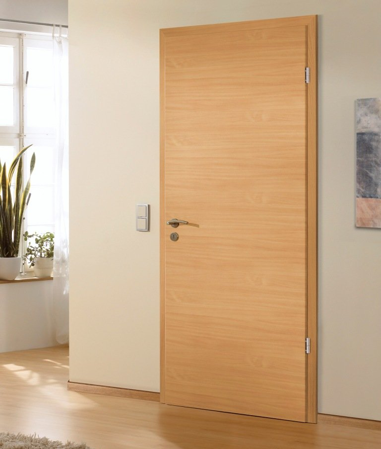 Portes d 39 int rieur portes en bois mod le horizon trendel fabriquants de fen tres pvc - Porte appartement bois ...